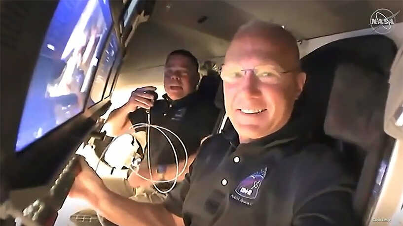 Who are the two NASA astronauts piloting this mission?